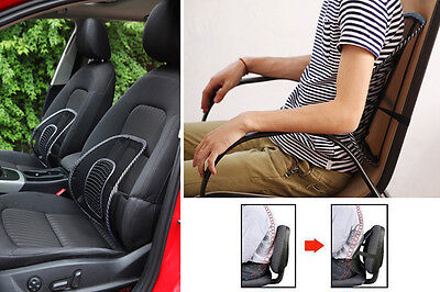 New Car Seat Office Chair Massage Back Lumbar Support Mesh Ventilate Cushion Pad