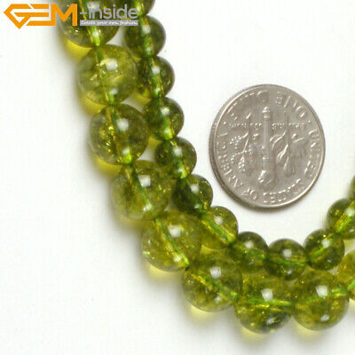 "Green Peridot Stone Looose Beads For Jewelry Making 15"" Wholesale Jewelry Beads"