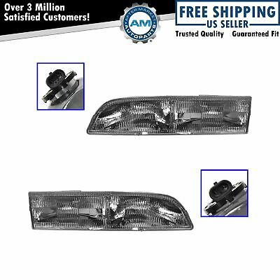 Headlights Headlamps Left & Right Pair Set NEW for 92-97 Ford Crown Victoria
