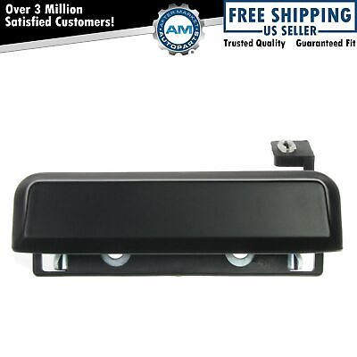 Black Outer Outside Exterior Door Handle Driver LH Left for Escort Mustang Capri