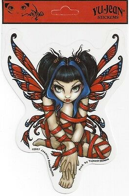 RED RIBBON Fairy Sticker Car Decal Jasmine Becket-Griffith Strangeling faery