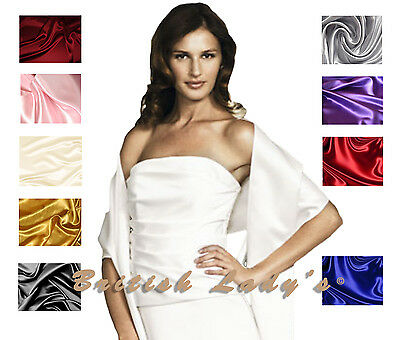 Satin Bridal Bridesmaid Wedding/Prom Shawl/Stole/Wrap/Bolero/Pashmina/Cover Up