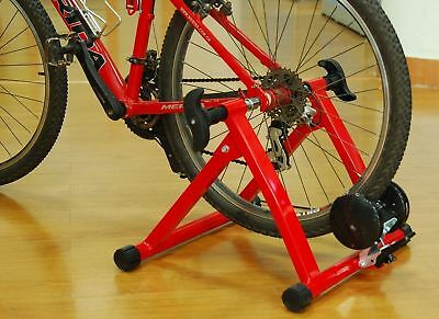 HOMCOM Magnetic Bike Trainer 5-Level Exercise Sporting Stand Red