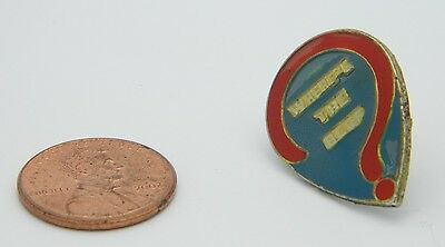 Vintage Early 1980's Pop Culture Wendy's Where's the Beef? Slogan Hat Lapel Pin