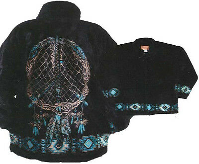 Dreamcatcher Native American Plush Fleece Jacket (Md - 3X)