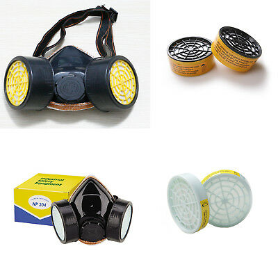 Anti-Dust Mask Single / Double Respirator Filter Catridge / Replace Box / Goggle