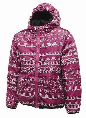 Rrp £50 Girls Dare2B Insulated Reversible Flippancy Jacket Sizes 3-12Yrs