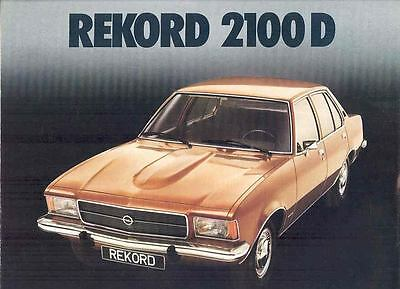 1973 Opel Rekord 2100D Brochure Diesel Record Car Dutch wp5599-724DIM