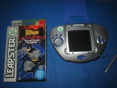 LeapFrog Blue Silver LEAPSTER Learning Handheld Game System Console w/ Batman