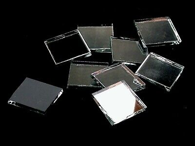 Silver Mirror  | Hand Cut to Order Mosaic Glass Tile Shapes | Large Package