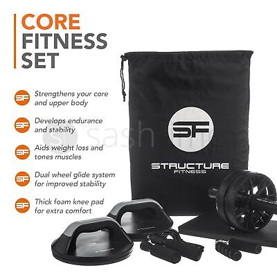 Abs Abdominal Roller Gym Exercise Wheel Tone Ab Fitness Core Strength Training