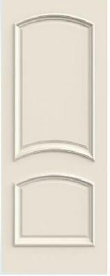 Custom Carved 2 Panel Doubl Arch Primed Solid Core Doors W/ Raised Molding R2050