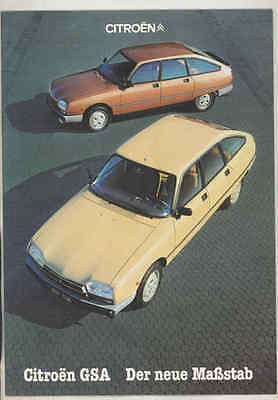 1981 Citroen GSA Brochure German wt5791