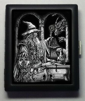 Wizard Gothic Metal Wallet ID  Business Card  Cigarette Case  #65
