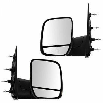 Folding Manual Side View Mirrors Left & Right Pair Set for 02-08 Econoline Van