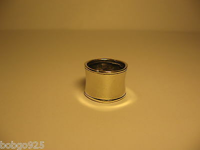 Ring Silpada Hammered Cuff 9/16 in Wide Band 925 Sterling Silver Signed Size 6