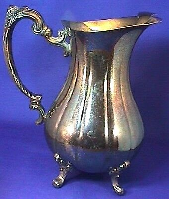 Sheffield Silver (Reed & Barton) Silver Plated Footed 2 Quart Pitcher EUC MWT