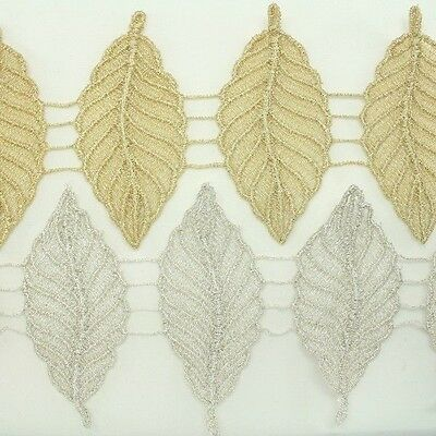 Metallic Venise Trim Lace #132- Thread Embroidery Crafts Sewing Applique Motif