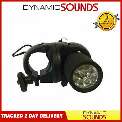 Dynamic Bicycle Cycle Front Safety 9 LED Light Mountain Road Bike Torch