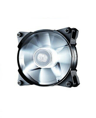 Cooler Master White JetFlo 120 Silent 120mm Fan - Fast Shipping - Great Price