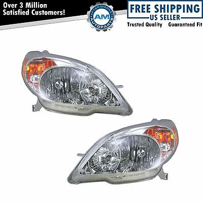 Headlights Headlamps Left & Right Pair Set NEW for 03-08 Toyota Matrix