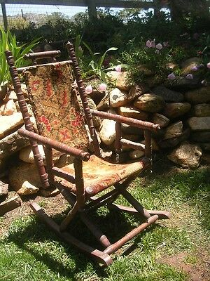 Antique/Vintage Child/Doll/Bear Rocking Chair Carpet Rocker Hunzinger/East Lake