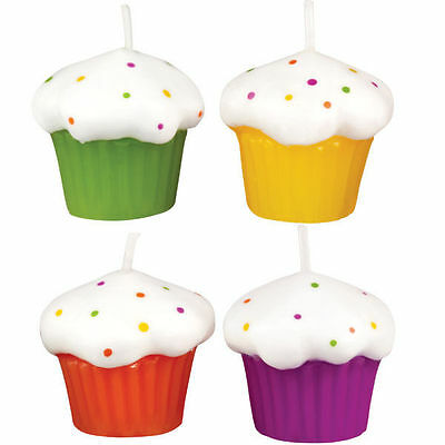 Cupcake Candle Set 4 ct from Wilton #1004 - NEW
