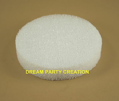 """6 WHITE STYROFOAM 4"""" Round Disc 3/4"""" Thick for craft projects"""