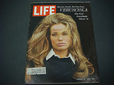 Life Magazine, August 18,1967, Veruschka,Bizarre,Exotic,Six-Feet-Four Model