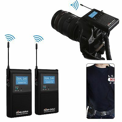 ROWA 2.4GHZ Wireless Stereo Microphone for Canon EOS 6D 7D 550D 600D 1200D 5DIII