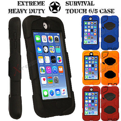 Apple iPod Touch 6/5 Tough Survivor Hard Rugged HEAVY DUTY Shock Protective Case
