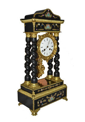 Antique French Gilt Bronze Boulle Portico Clock c.1870