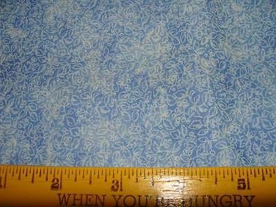 3/4 yd BLUE ROSES CALICO Quilt/Sew Fabric Traditions OOP F8542