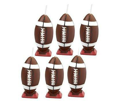 Football Candles 6ct from Wilton  #757 - NEW