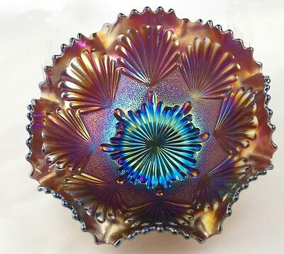 Imperial Shell aka Shell and Sand - Ruffled Bowl - Amethyst