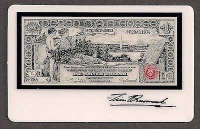 Tim Prusmack Money Art on Phone Card - $1.00 Education Note - Mint Cond.