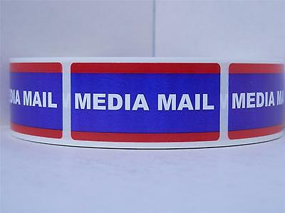 Media Mail USPS 1x2 Stickers Shipping Mailing Labels 500/rl