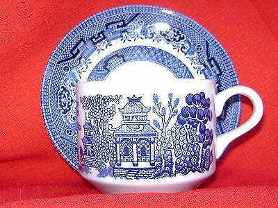 Churchill Blue Willow Cup & Saucer Sets