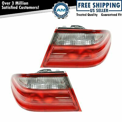 Taillights Taillamps Brake Lights Left/Right Pair Set for 00-02 Mercedes E Class