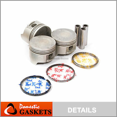 Complete Piston Set For 89-00 Chevrolet Geo Metro 1.0L 6V SOHC DNJ P526 Std
