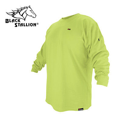 Revco Flame Resistant Cotton Long Sleeve Lime Green T-shirt Large FR