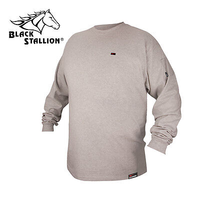 Revco Flame Resistant Cotton Long Sleeve Gray T-shirt Size Large FR