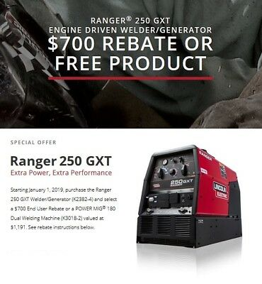 Lincoln Ranger 250 GXT Engine Welder Generator New K2382-4