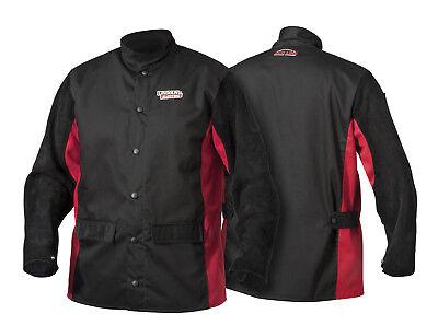 Lincoln Shadow Split Leather Sleeved Welders Welding Jacket XL K2986