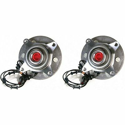 Front Wheel Hubs & Bearings Pair Set for Ford Expedition Navigator w/ABS 4x4 4WD