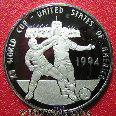 1992 Cambodia 20 Riels Silver Proof 1994 Usa World Cup Soccer Rare Country Coin