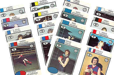 Australian Footballers 1975 - New Collectable Postcard Set # 3