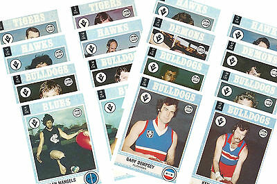 Australian Footballers 1977 - New Collectable Postcard Set # 1
