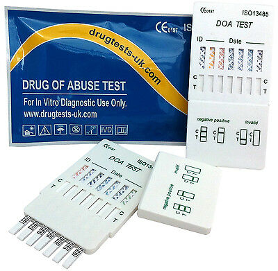 5x 10 in 1 DRUG PANEL TESTS KIT KITS TEST COCAINE HEROIN SPEED ECSTASY USE +MORE