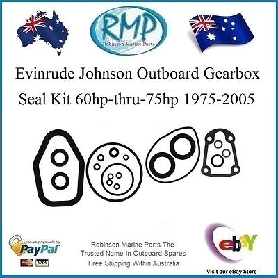 A New Evinrude Johnson Outboard Gearbox Seal Kit 60hp-75hp 1975-2005 # 396349